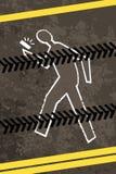 Verwond kruisend een weg met telefoon Stock Foto