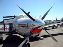 verworfen am Speicherauszugflugzeug in einem alten Flugplatz Stockbilder