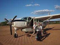 verworfen am Speicherauszugflugzeug in einem alten Flugplatz Lizenzfreies Stockbild