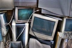 Verworfene CRT-Überwachungsgeräte Stockfotografie