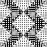 Verworfenes Zickzackmuster des Designs nahtloses Monochrom Stockfotografie