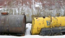Verworpen Chemische Tanks Royalty-vrije Stock Foto