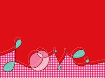Verworrene Liebeszeilen rosafarbenes Plaid Stockbilder
