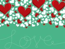 Verworrene Liebeszeilen und rotes Inneres vektor abbildung