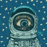 Verwunderungsastronaut Stockfotografie