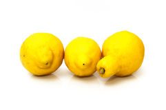 Very acidic lemons Royalty Free Stock Images
