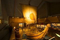 Very Ancient Boat model royalty free stock images