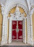 Very ancient castle door facade Regaleira. Royalty Free Stock Photography