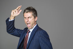 Very angry business boss shouting. At you Stock Photography