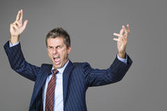 A Very angry business boss. Very angry business boss shouting at you Royalty Free Stock Photo