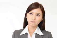Very angry business woman Stock Photo