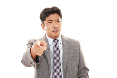 Very Angry Businessman Stock Images