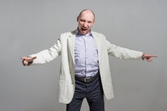 Very angry businessman shout portrait Stock Photography