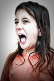 Very angry hispanic girl yelling Stock Photos