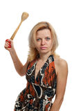 Very angry housewife Stock Image