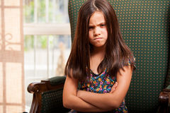 Very angry little girl Stock Photo
