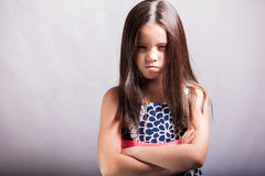 Very angry little girl Stock Photos