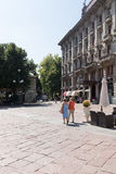 Very antique apartments with large park #2. Salsomaggiore Royalty Free Stock Photography
