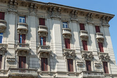 Very antique apartments #3. Salsomaggiore Stock Images