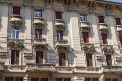 Very antique apartments #5. Salsomaggiore Royalty Free Stock Image