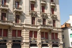 Very antique apartments #4. Salsomaggiore Stock Image