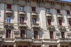 Very antique apartments #6. Salsomaggiore Stock Images