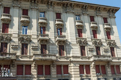 Very antique apartments. Salsomaggiore italy Stock Image