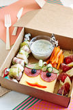 A very appetizing lunch in the packing box Royalty Free Stock Image