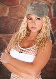 Very Attractive Blond Haired Woman Royalty Free Stock Images