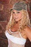 Very Attractive Blond Haired Woman Stock Photo