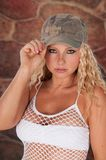 Very Attractive Blond Haired Woman Royalty Free Stock Image