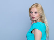 Very attractive young blonde girl  Royalty Free Stock Photography