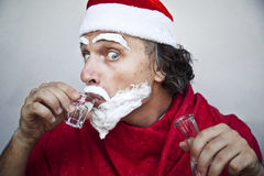 Very bad Santa Claus Royalty Free Stock Photos