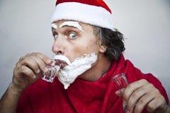 Very bad Santa Claus Royalty Free Stock Photos