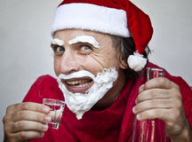 Very bad Santa Claus Royalty Free Stock Images