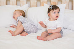 Very beautful cute babies boy and girl Royalty Free Stock Photos