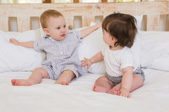 Very beautful cute babies boy and girl Royalty Free Stock Images