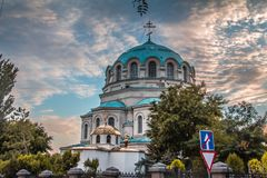 Very beautiful Church in Crimea. stock photo
