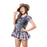 Beautiful sexy country and western girl Stock Image