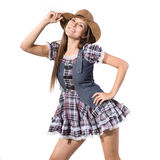 Beautiful sexy country and western girl Stock Images