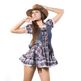 Beautiful sexy country and western girl Royalty Free Stock Photography