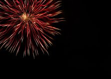 Very beautiful fireworks with free space. Fireworks with space for writing stock photos