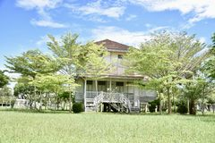 Very beautiful garden house in Thailand stock photography