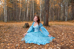 Very beautiful girl in medieval dress Royalty Free Stock Images