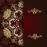 Very beautiful gold calligraphic pattern Stock Image
