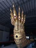 A royal barge head of Thai king in the national museum, Bangkok, Thailand. stock photo