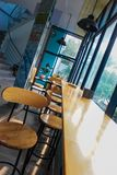 Beutiful view of the coffee shop stock images