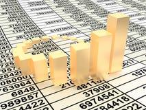 Business statistics. Very beautiful image. 3d business statistics Stock Photo