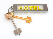 Keys to hotel Stock Photos
