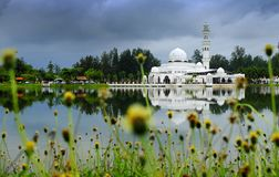 Very Beautiful Kuala Ibai Mosque in Terengganu royalty free stock photo